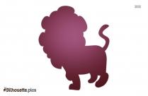 Free Lion Cartoon Silhouette Image