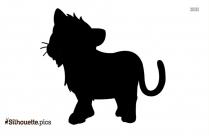 Baby Llama Symbol Silhouette