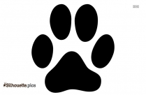 Dog Paw Print Silhouette Clip Art