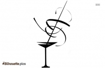 Martini Glass Silhouette Vector And Graphics