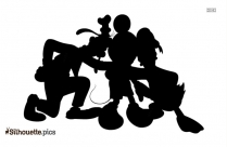 Free Mickey And His Friend Silhouette