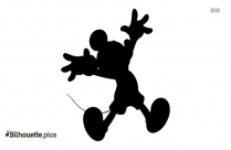 Black Mickey Mouse Cartoon Silhouette Image