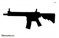Machine Gun Silhouette Art