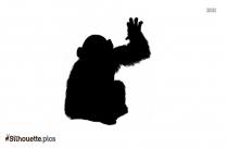 Free Cartoon Monkey Silhouette Image