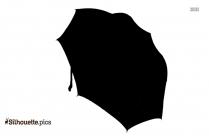 Open Umbrella Silhouette Image For Free