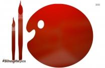 Free Paint Palette Clipart Silhouette