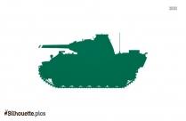 Cartoon Military Tank Silhouette