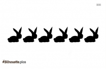 Black And White Funny Easter Cartoon Silhouette