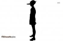 Cartoon Boy Silhouette Background