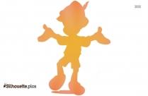 Little Boy Standing Silhouette Free Vector Art
