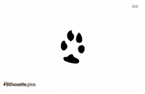 Wolf Pawprint Silhouette