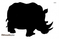 Free Rhino Clipart Silhouette