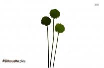 Cartoon Cinquefoil Flower Silhouette
