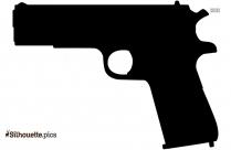 Machine Gun Silhouette Clipart Vector