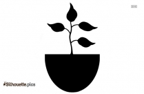 Coffee Plant Silhouette Drawing