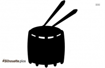 Snare Drum Silhouette Clipart