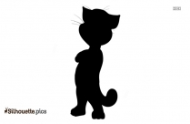 Cat Sitting Silhouette Drawing