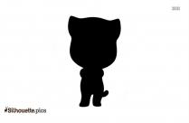 Cartoon Cat Silhouette Clipart