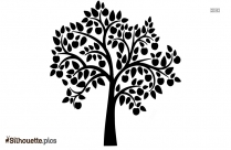 Black And White Apple Tree Silhouette Image