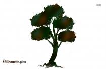 Tree Stencil Vector Silhouette