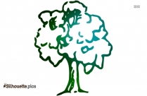 Tree Drawing Silhouette Vector And Graphics