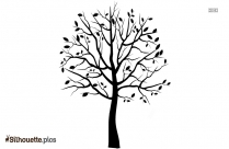 Tree Drawing Silhouette, Clipart