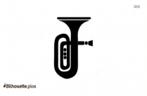 Tuba Silhouette Vector