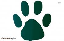 Free Wildcat Paw Silhouette