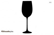 Wine Silhouette Free Vector Art
