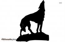 Cartoon Transparent Wolf Silhouette