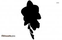 Freesia Flower Silhouette Clip Art