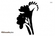 Japanese Flower Tattoo Silhouette Image