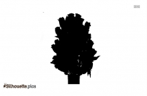 Row Of Flowers Silhouette Illustration