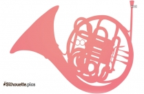 French Horn Silhouette Clipart