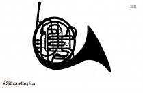 French Horn Silhouette Image