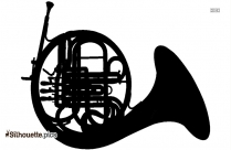 French Horns Instrument Silhouette Image And Vector