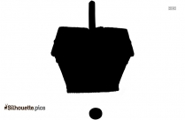 French Picnic Hamper Or Basket Silhouette