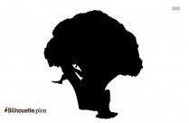 Cartoon Broccoli Silhouette Illustration