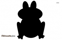 Frog Jumping Silhouette Vector Image