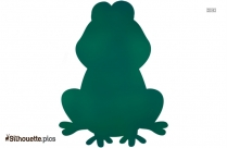Cartoon Frog Silhouette Background