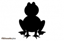 Frog Cartoon Silhouette