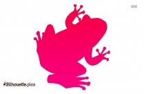 Frog Jumping Silhouette Vectors