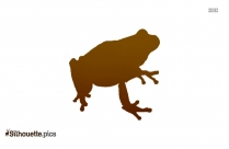 Cartoon Frog Jumping Silhouette Image And Vector
