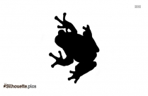Funny Frog Posing Silhouette Clipart