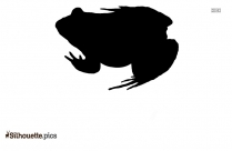 Cartoon Frog Silhouette Clipart