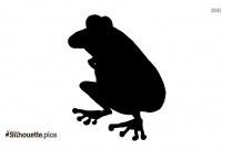 Cartoon Frog Silhouette Image And Vector