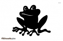 The Frog King Vector Silhouette Image