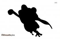 Happy Dwarf Silhouette Clip Art