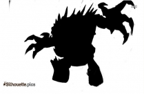 Monster Behind A Door Silhouette