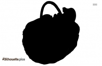 Fruit Basket Clipart Black And White